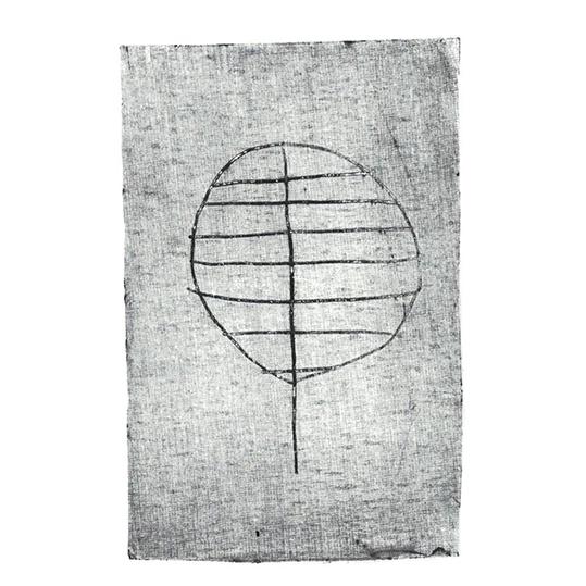 feuille d'arbre en gravure