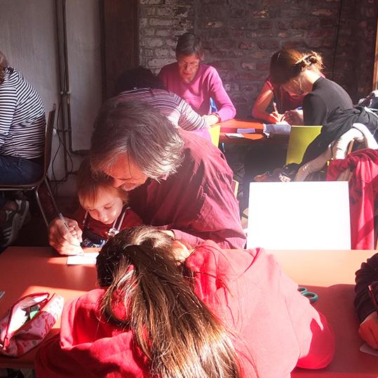 atelier de gravure intergénérationnel